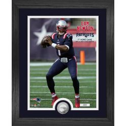 Cam Newton Patriots First Home Game Silver Coin Photo Mint