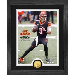 Joe Burrow 1st NFL Start Bronze Coin Photo Mint