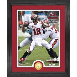 Tom Brady Bucs 1st Home Game Bronze Coin Photo Mint