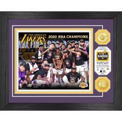 2020 NBA Finals Champions Celebration Los Angeles Lakers Bronze Coin Photo Mint