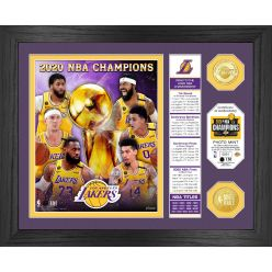 2020 NBA Finals Champions Banner Los Angeles Lakers Bronze Coin Photo Mint
