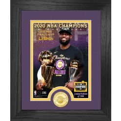 2020 NBA Champions MVP Los Angeles Lakers Bronze Coin Photo Mint