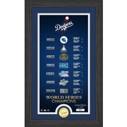 """Los Angeles Dodgers """"Legacy"""" Supreme Bronze Coin PhotoMint"""