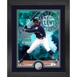 Kyle Lewis 2020 AL Rookie of The Year Silver Coin Photo Mint