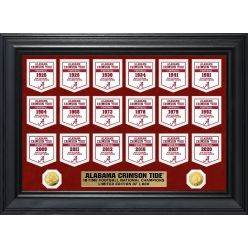 Alabama Crimson Tide Gold Coin Deluxe Banner Collection