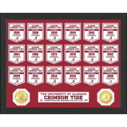 Alabama Crimson Tide Bronze Coin Banner Collection