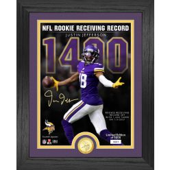 Justin Jefferson NFL Rookie Receiving Record Bronze Coin Photo Mint
