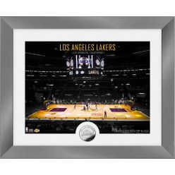 Los Angeles Lakers Art Deco Silver Coin Photo Mint