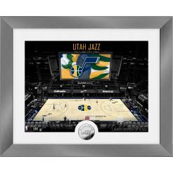 Utah Jazz Art Deco Silver Coin Photo Mint