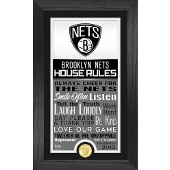 Brooklyn Nets House Rules Supreme Bronze Coin Photo Mint