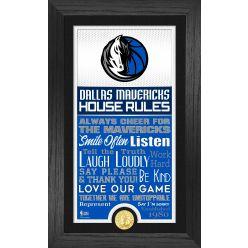 Dallas Mavericks House Rules Supreme Bronze Coin Photo Mint