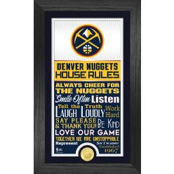 Denver Nuggets House Rules Supreme Bronze Coin Photo Mint