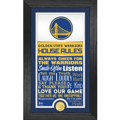 Golden State Warriors House Rules Supreme Bronze Coin Photo Mint