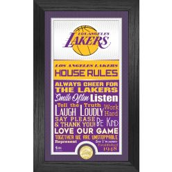 Los Angeles Lakers House Rules Supreme Bronze Coin Photo Mint