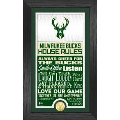 Milwaukee Bucks House Rules Supreme Bronze Coin Photo Mint