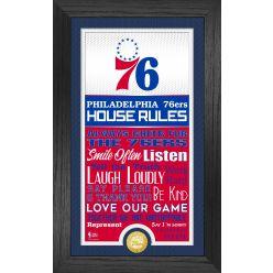 Philadelphia 76ers House Rules Supreme Bronze Coin Photo Mint