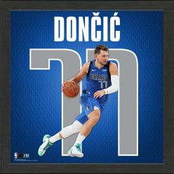 Luka Doncic Impact Jersey Framed Photo