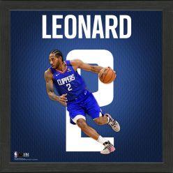 Kawhi Leonard Impact Jersey Framed Photo