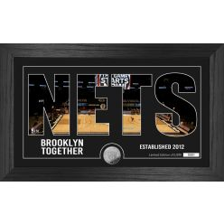 Brooklyn Nets Silhouette Minted Coin Photo Mint