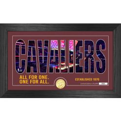 Cleveland Cavaliers Silhouette Bronze Coin Photo Mint