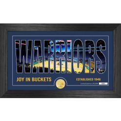 Golden State Warriors Silhouette Bronze Coin Photo Mint