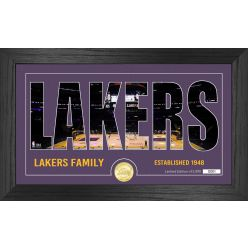 Los Angeles Lakers Silhouette Bronze Coin Photo Mint