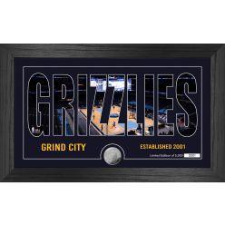 Memphis Grizzlies Silhouette Minted Coin Photo Mint