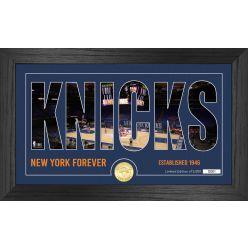 New York Knicks Silhouette Bronze Coin Photo Mint