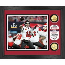 Tom Brady Super Bowl 55 MVP Bronze Coin Photo Mint