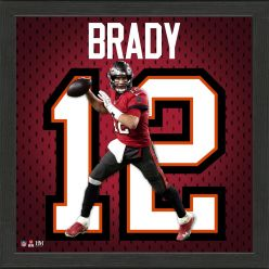 Tom Brady Tampa Bay Buccaneers Impact Jersey Frame