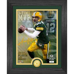 Aaron Rodgers 2020 NFL MVP Bronze Coin Photo Mint