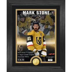 Mark Stone Vegas Golden Knights The Captain Signature Series Bronze Coin Photo Mint