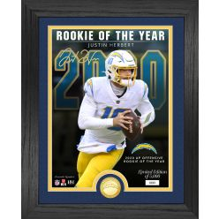 Justin Herbert 2020 Offensive Rookie of The Year Bronze Coin Photo Mint