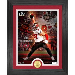 Rob Gronkowski Tampa Bay Buccaneers Super Bowl 55 Champions Bronze Coin Photo Mint