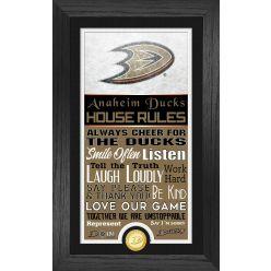 Anaheim Ducks House Rules Supreme Bronze Coin PhotoMint
