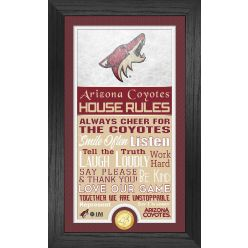 Arizona Coyotes House Rules Supreme Bronze Coin PhotoMint