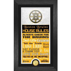 Boston Bruins House Rules Supreme Bronze Coin PhotoMint