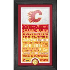 Calgary Flames House Rules Supreme Bronze Coin PhotoMint