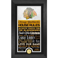Chicago Blackhawks House Rules Supreme Bronze Coin PhotoMint
