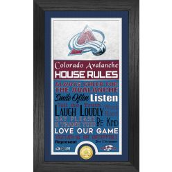 Colorado Avalanche House Rules Supreme Bronze Coin PhotoMint
