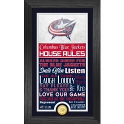 Columbus Blue Jackets House Rules Supreme Bronze Coin PhotoMint