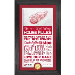 Detroit Red Wings House Rules Supreme Bronze Coin PhotoMint