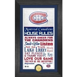 Montreal Canadiens House Rules Supreme Bronze Coin PhotoMint