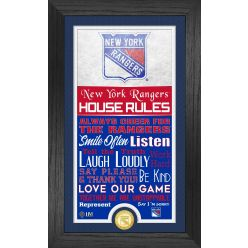 New York Rangers House Rules Supreme Bronze Coin PhotoMint