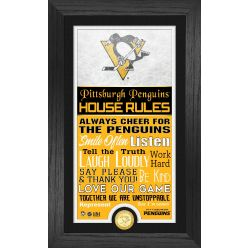 Pittsburgh Penguins House Rules Supreme Bronze Coin PhotoMint
