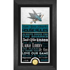 San Jose Sharks House Rules Supreme Bronze Coin PhotoMint