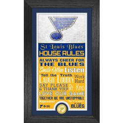 St. Louis Blues House Rules Supreme Bronze Coin PhotoMint