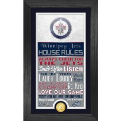 Winnipeg Jets House Rules Supreme Bronze Coin PhotoMint