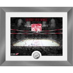 Detroit Red Wings Art Deco Silver Coin Photo Mint