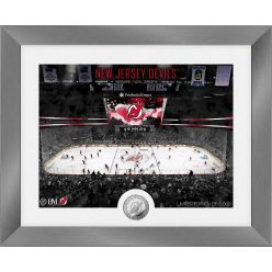 New Jersey Devils Art Deco Silver Coin Photo Mint